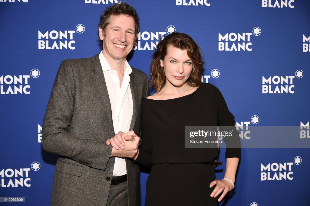 Paul W. S. Anderson and Milla Jovovich attend Montblanc Celebrates 'Le Petit Prince' at the One World Trade Center Observatory on April 4, 2018 in New York City.