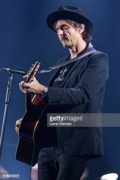 Paul WaaktaarSavoy of Aha performs at The O2 Arena on February 14 2018 in London England