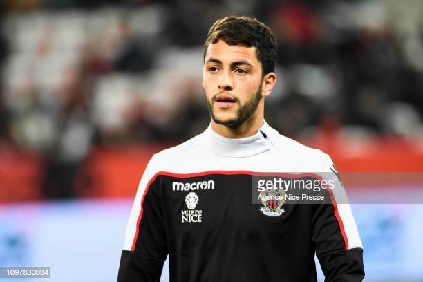 Paul Wade of Nice during the Ligue 1 match between Nice and Lyon at Allianz Riviera on February 10 2019 in Nice France