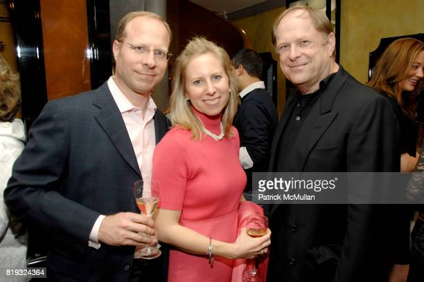 Paul Wahlgren Stephanie Walhgren and Gordon Roberts attend de Grisogono hosts The Central Park Conservancy's Platinum Jewels in Bloom Cocktail...