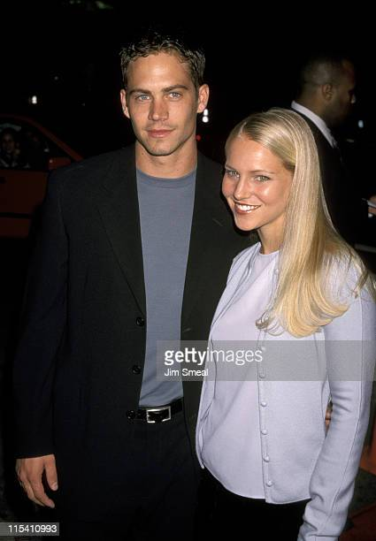 Paul Walker and Bliss Ellis during 'Pleasantville' Los Angeles Premiere at Mann's National Theater in Westwood California United States