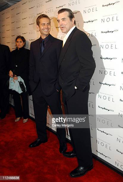 Paul Walker and Chazz Palminteri director during 'Noel' New York Premiere at Regal United Artist Battery Park City Stadium 16 in New York City New...