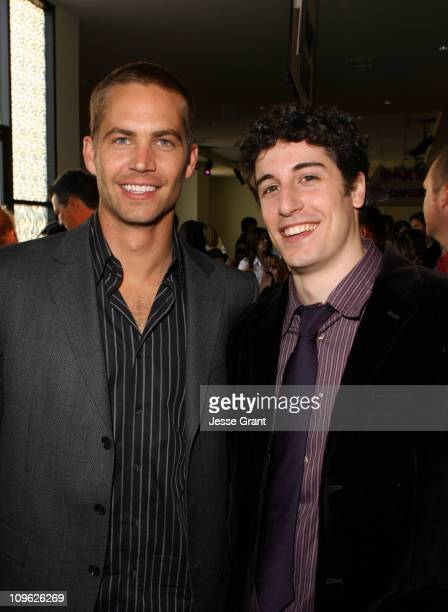 Paul Walker and Jason Biggs during Eight Below World Premiere After Party at The Highlands in Los Angeles California United States