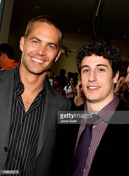Paul Walker and Jason Biggs during 'Eight Below' World Premiere After Party at The Highlands in Los Angeles California United States