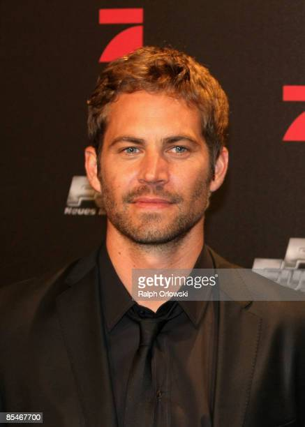 Paul Walker arrives for the Europe premiere of Fast Furious on March 17 2009 in Bochum Germany