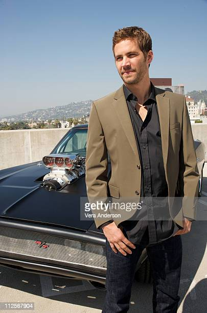 Paul Walker at the 'Fast Furious' press conference at the Arclight Theater on March 13 2009 in Hollywood California