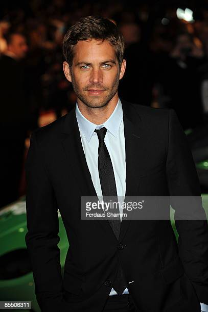 Paul Walker attends the UK premiere of Fast Furious 4 at Vue West End on March 19 2009 in London England