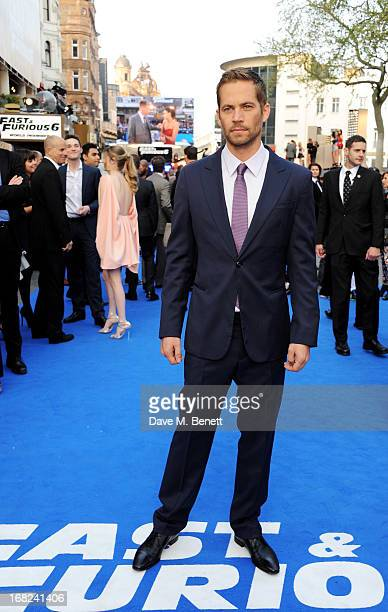 Paul Walker attends the World Premiere of 'Fast Furious 6' at Empire Leicester Square on May 7 2013 in London England