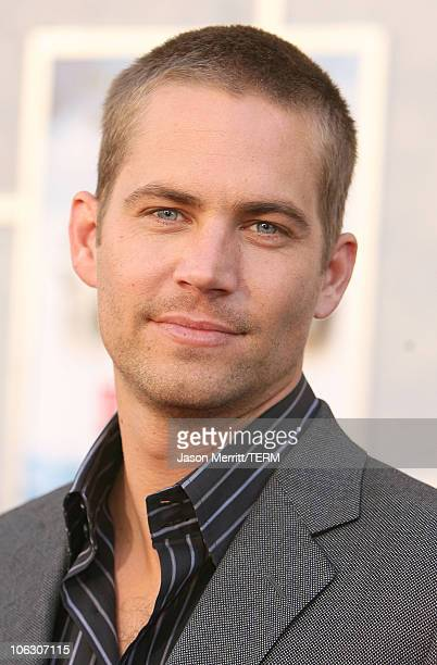 Paul Walker during Eight Below Los Angeles Premiere Arrivals at El Capitan in Hollywood California United States