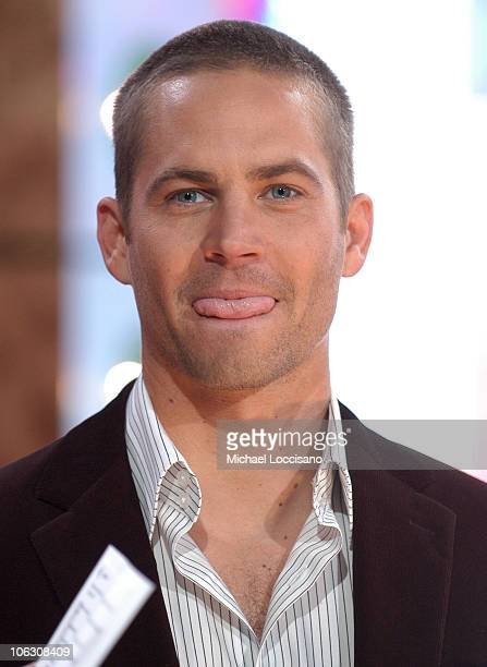 Paul Walker during Maria Sharapova and Paul Walker Visit MTV's TRL February 14 2006 at MTV Studios Times Square in New York City New York United...