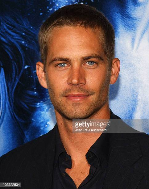 Paul Walker during MGM Pictures and Columbia Pictures 'Into the Blue' Premiere Arrivals at Mann Village Theatre in Westwood California United States