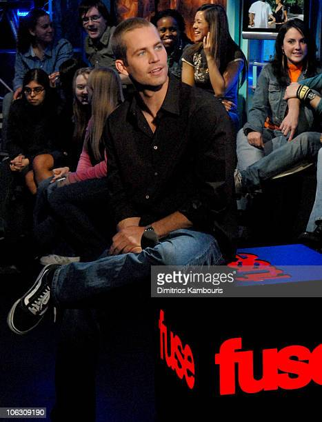 Paul Walker during Paul Walker Visits Fuse's 'Daily Download' February 16 2006 at Fuse Studios in New York City New York United States