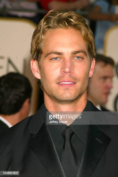 Paul Walker during The 60th Annual Golden Globe Awards Arrivals at The Beverly Hilton Hotel in Beverly Hills California United States