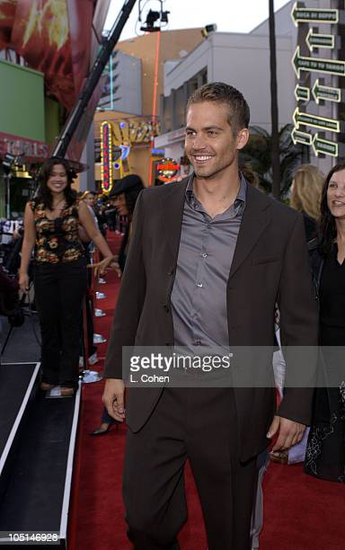 Paul Walker during The World Premiere Of '2 Fast 2 Furious'Red Carpet Arrivals at Universal Amphitheatre in Universal City California United States