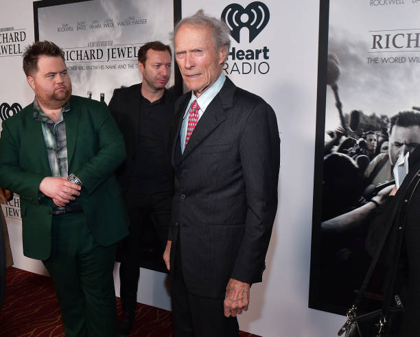 Paul Walter Hauser and Clint Eastwood attend the Richard Jewell Atlanta Screening at Rialto Center of the Arts on December 10 2019 in Atlanta Georgia