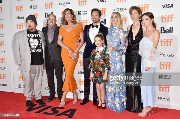 Paul Walter Hauser Craig Gillespie Allison Janney Sebastian Stan Mckenna Grace Margot Robbie Julianne Nicholson and Caitlin Carver attend the I Tonya...