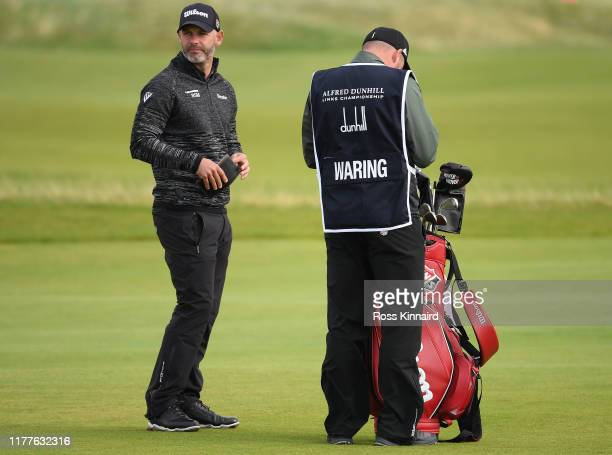 Paul Waring of England on the 17th hole during Day three of the Alfred Dunhill Links Championship at Carnoustie Golf Links on September 28 2019 in St...