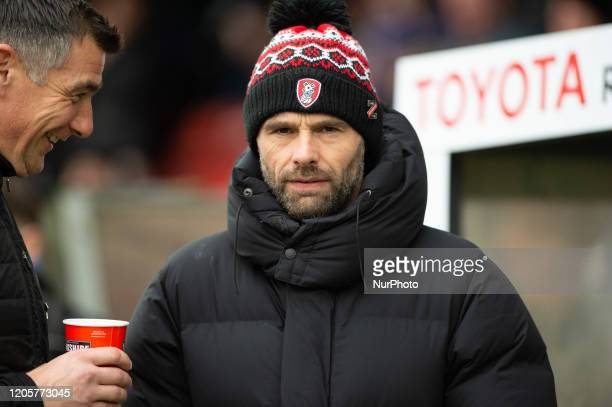 Paul Warne, manager of Rotherham, before the Sky Bet League 1 match between Rochdale and Rotherham United at Spotland Stadium, Rochdale on Saturday...