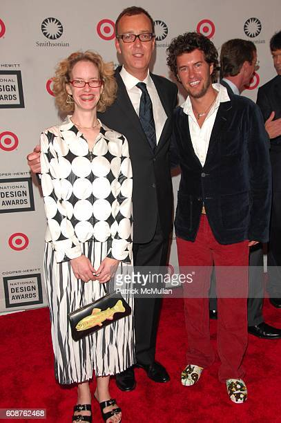 ?, Paul Warwick Thompson and Blake Mycoskie attend National Design Awards at Cooper-Hewitt National Design Museum N.Y.C on October 18, 2007.