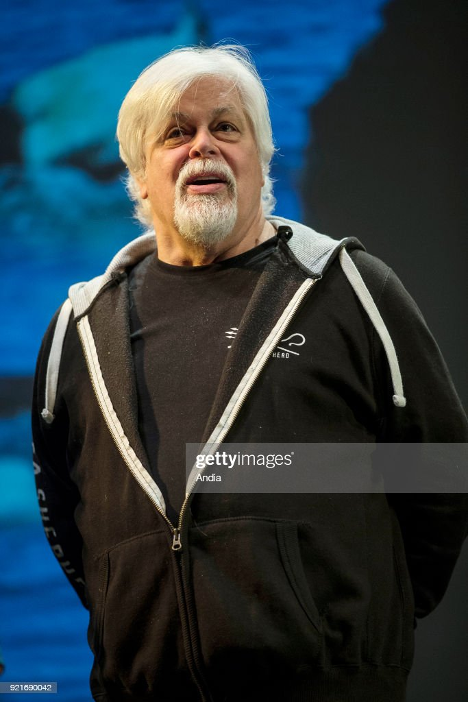 Paul Watson, environmental activist, founder of the anti-poaching and direct action group Sea Shepherd Conservation Society and member of Greenpeace. Here, attending a conference within the framework of the European Festival of Underwater Image and Environment in Strasbourg (north-eastern France), on .