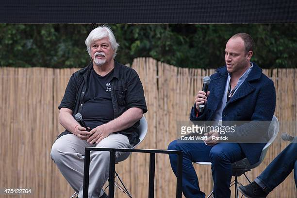 Paul Watson is being interviewed at We Love Green Festival on May 31 2015 in Paris France