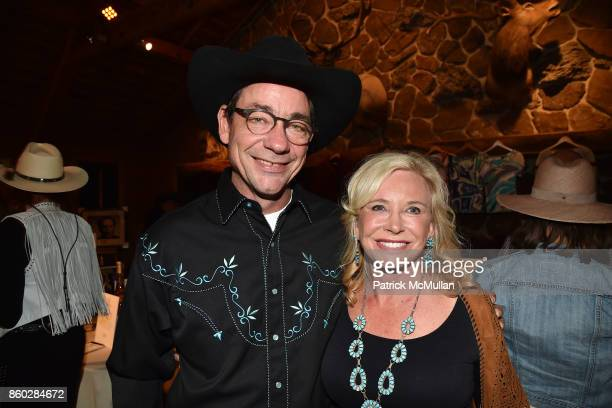 Paul Wattis and Sharon Bush attend Hearst Castle Preservation Foundation Annual Benefit Weekend Hearst Ranch Patron Cowboy Cookout at Hearst Dairy...