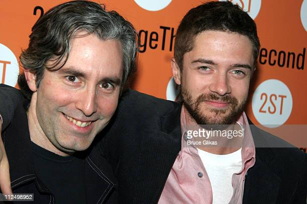 Paul Weitz and Topher Grace during 'Privilege' OffBroadway Opening Night Arrivals at Second Stage Theater in New York City New York United States
