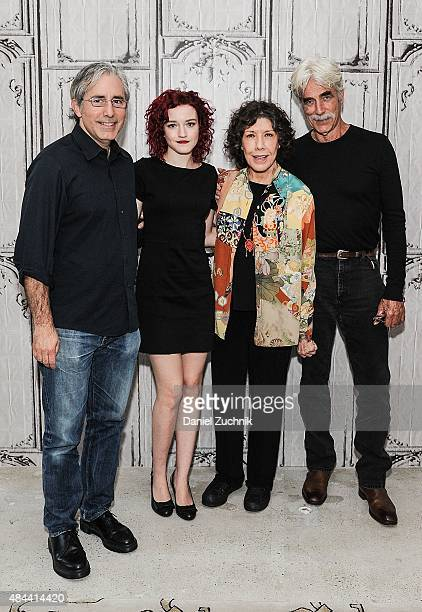 Paul Weitz Julie Garner Lily Tomlin and Sam Elliot attend AOL Build to discuss their new film 'Grandma' at AOL Studios on August 18 2015 in New York...