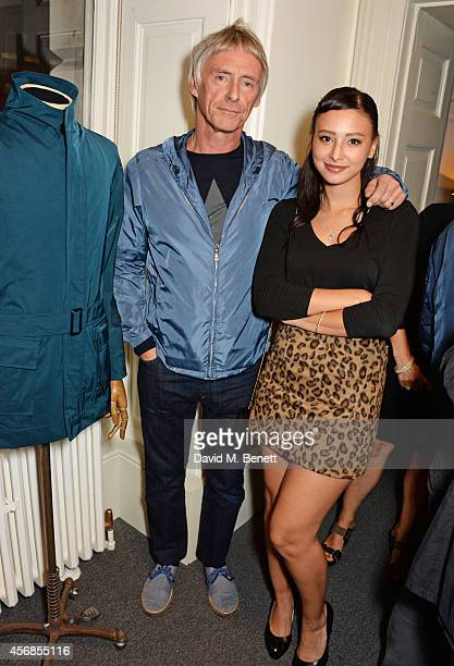 Paul Weller and daughter Leah Weller attend the launch of Real Stars Are Rare the new menswear line from Paul Weller at Somerset House on October 8...