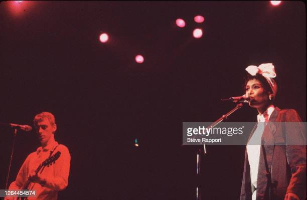 Paul Weller and Dee C Lee of The Style Council Red Wedge Tour Hammersmith Odeon London 3/21/86
