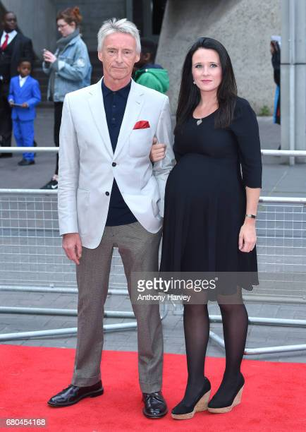 Paul Weller and Hannah Andrews attend the 'Jawbone' UK premiere at BFI Southbank on May 8 2017 in London United Kingdom