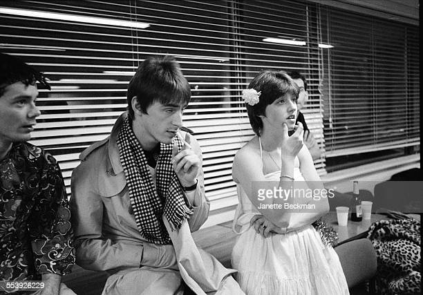 Paul Weller and his sister Nicky backstage at The Jam's farewell concert Brighton Centre Brighton United Kingdom 11th December 1982