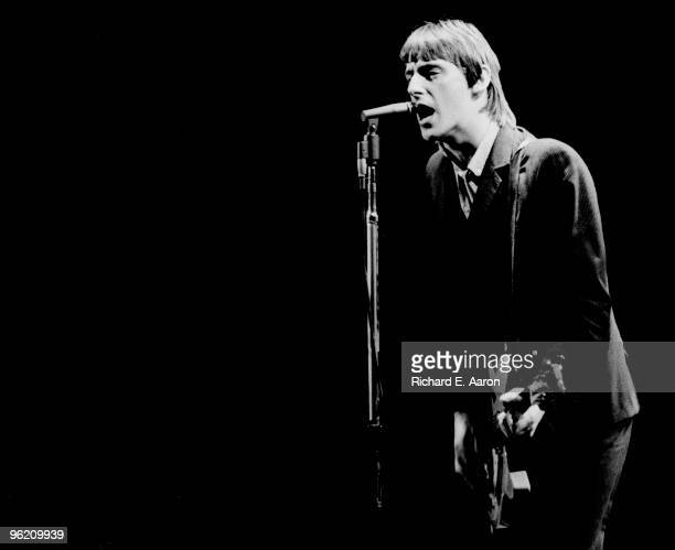 Paul Weller from The Jam performs live at The Palladium in New York on February 29 1980