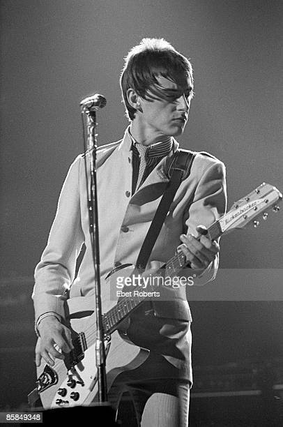 Paul Weller of The Jam performing live onstage at the Palladium New York 14th April 1979 He is playing Rickenbacker 330 guitar