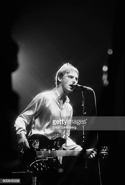 Paul Weller of The Jam performs on stage at the Brighton Centre Brighton United Kingdom 22nd September 1982