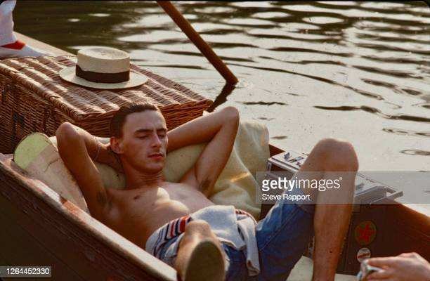Paul Weller of The Style Council films the 'Long Hot Summer' video, Cambridge, 8/3/83.
