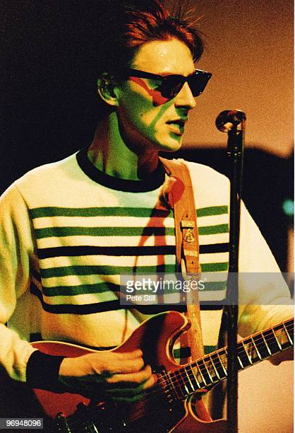 Paul Weller of The Style Council performs on stage at The Dominion Theatre, on March 15th, 1984 in London, England.