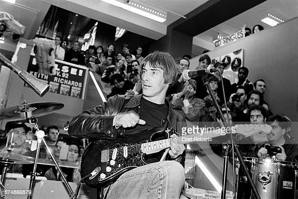 Paul Weller performing at Tower Records on Broadway and 4th Street in New York City on November 25, 1992.