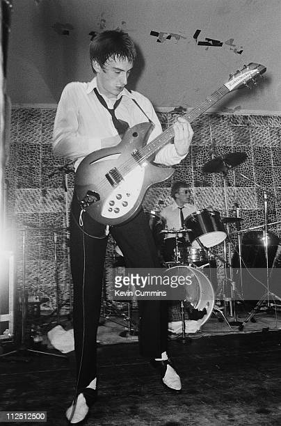 Paul Weller performing with The Jam at the Electric Circus Manchester 19th June 1977 On the right is drummer Rick Buckler