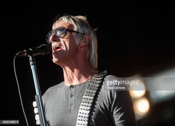 Paul Weller performs on stage at T In The Park Festival at Balado on July 13 2014 in Kinross United Kingdom