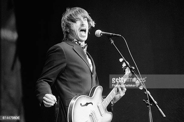 Paul Weller, vocals and guitar, performs on June 17th 1995 at Halfway festival in Halfweg, Netherlands
