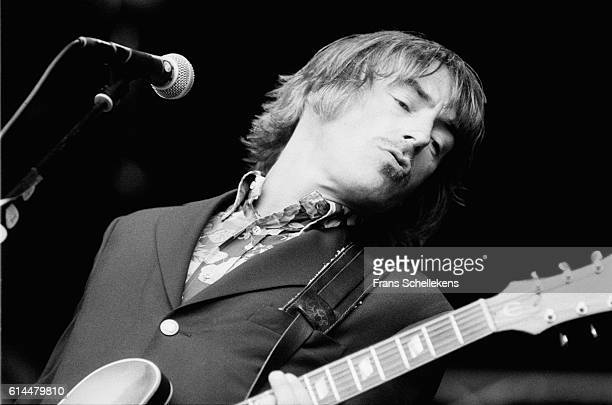 Paul Weller vocals and guitar performs on June 17th 1995 at Halfway festival in Halfweg Netherlands