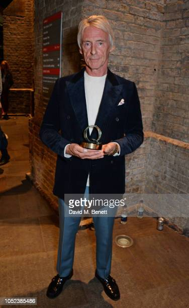 Paul Weller winner of the Q Best Act In The World Today award poses at the Q Awards 2018 at The Roundhouse on October 17 2018 in London England