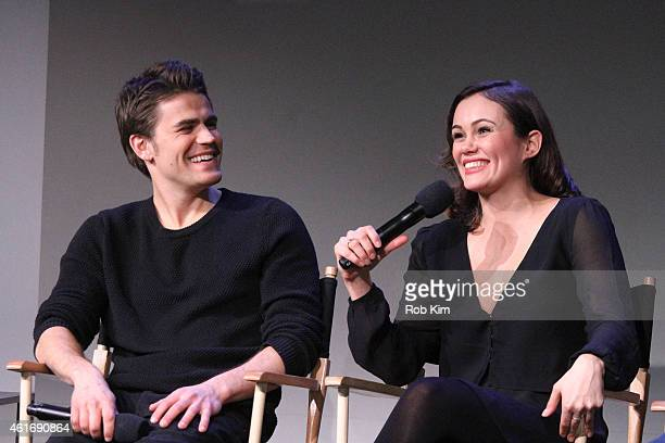 Paul Wesley and Dina Shihabi attend Apple Store Soho Presents Meet The Filmmakers Paul Wesley Dina Shihabi And Sean Mullin Amira And Sam at Apple...