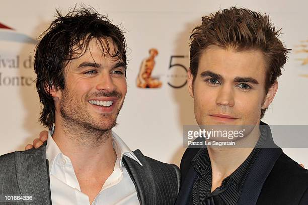 Paul Wesley and Ian Somerhalder arrive to attend the opening night of the 2010 Monte Carlo Television Festival held at Grimaldi Forum on June 6 2010...