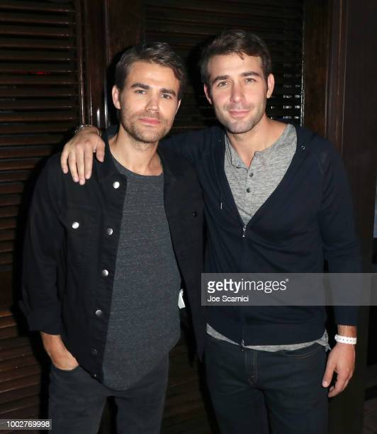 Paul Wesley and James Wolk attend the Fandom Party during ComicCon International 2018 at Float at Hard Rock Hotel San Diego on July 19 2018 in San...