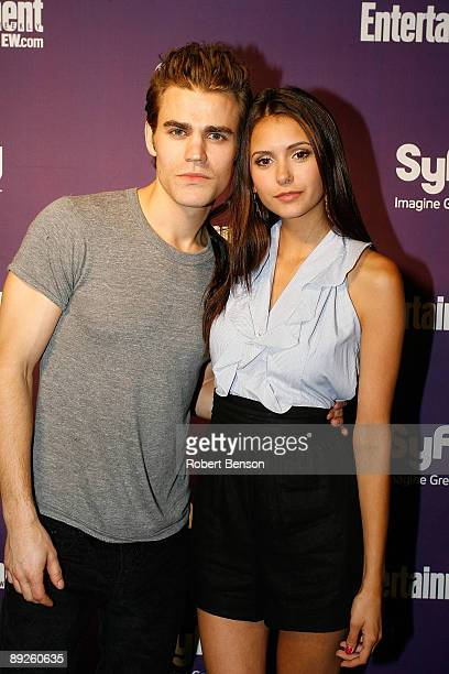 Paul Wesley and Nina Dobrev at the Entertainment Weekly and Syfy invade ComicCon party at Hotel Solamar on July 25 2009 in San Diego California