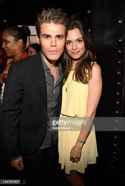 Paul Wesley and Torrey DeVitto attend the party for the CW Network's 2012 Upfront at Colicchio Sons on May 17 2012 in New York City