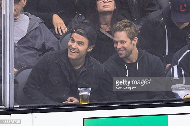 Paul Wesley attends an NHL playoff game between the Anaheim Ducks and the Los Angeles Kings at Staples Center on May 8 2014 in Los Angeles California