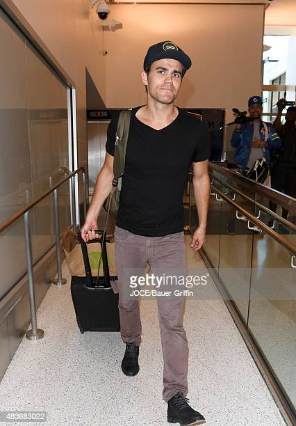Paul Wesley is seen at LAX on August 11 2015 in Los Angeles California